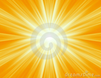 Radiating yellow rays