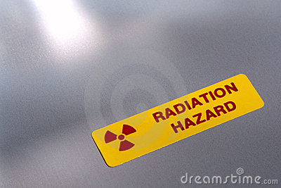 Radiation Hazard Danger Warning Label