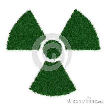 Radiation symbol from grass