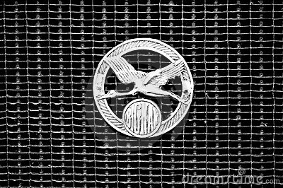 Radiator Automobiles Bignan (Black and White) Editorial Stock Photo