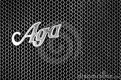 Radiator and the emblem of the car AGA Typ C6/20 Editorial Stock Photo