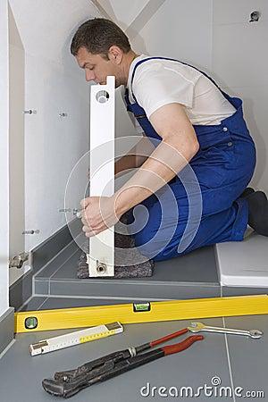 Free Radiator Installation Stock Photography - 22584422