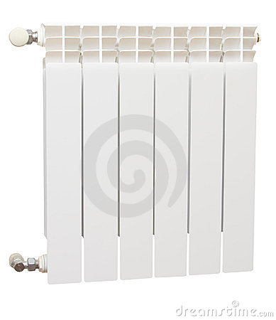 Radiator isolated over white background