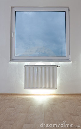 Radiator in unfurnished room