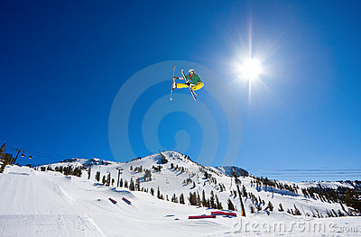 Radical Skier Gets Big Air