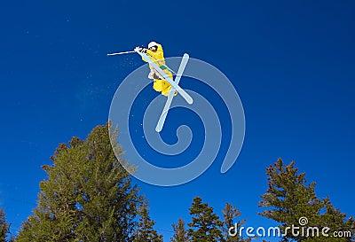 Radical Skier Gets Big Air