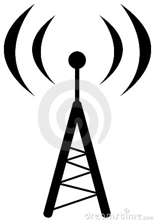 Free Radio Antenna Symbol Royalty Free Stock Photo - 14968085