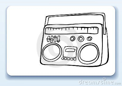 Radio, business card