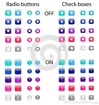 Free Radio Buttons And Check Boxes Royalty Free Stock Photography - 29153377