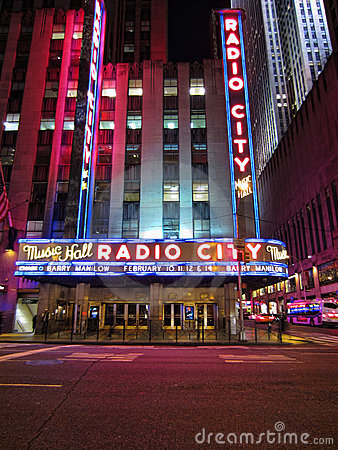 Radio City Music Hall Editorial Stock Photo