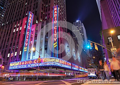Radio City Music Hall Editorial Photo