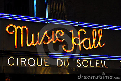 Radio City Music Hall Marquee, NYC Editorial Photography