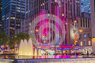 The Radio City Music Hall, New York Editorial Image