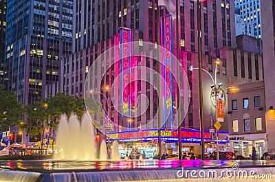 The Radio City Music Hall, New York Editorial Image