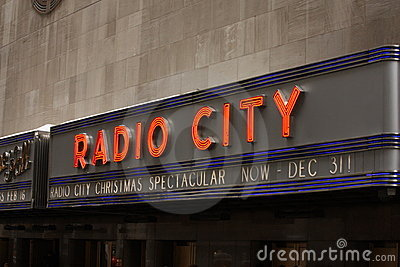 Radio city sign , New York City Editorial Photography