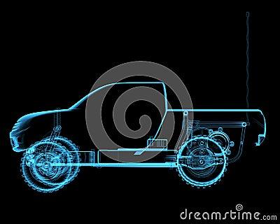 Radio controlled R/ toy car