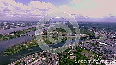 Radio de Riga et tour de TV banque de vidéos