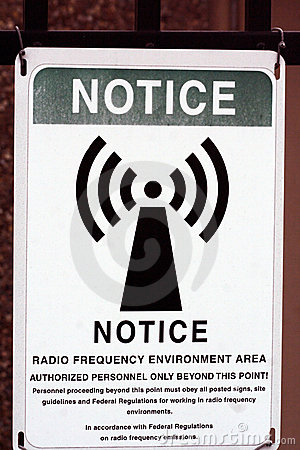 Free Radio Frequency Notice Royalty Free Stock Photography - 617927