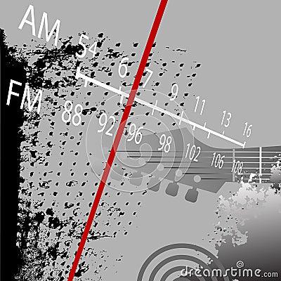 Free Radio Grunge AM FM Retro Royalty Free Stock Image - 3160916