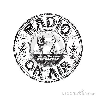 Radio grunge rubber stamp