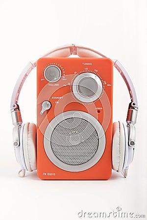 Radio with headphones