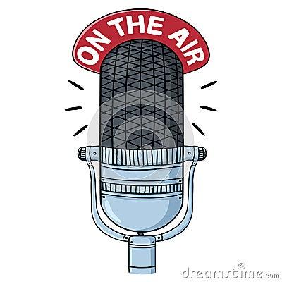 Free Radio Microphone Illustration Stock Photography - 39225182
