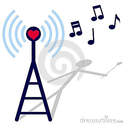 Free Radio Of Love Royalty Free Stock Photography - 12594787
