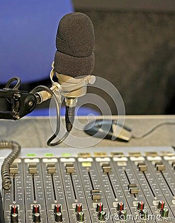 Free Radio Studio Mic Stock Image - 27630401