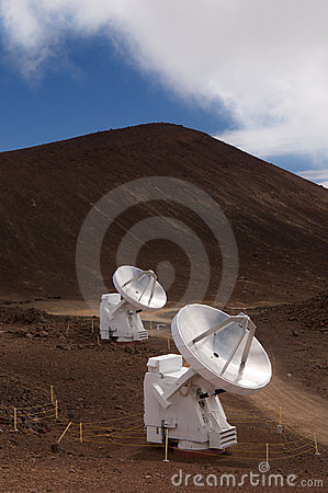 Radio telescopes on Mauna Kea, Big Island, Hawaii