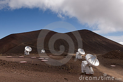 Radio telescopes, Mauna Kea, Big Island, Hawaii