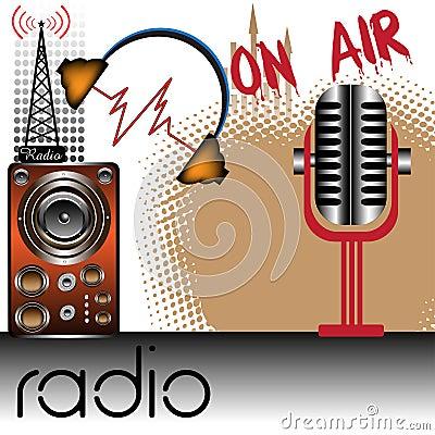 Free Radio Theme Royalty Free Stock Photography - 12746227