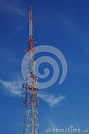 Free Radio Tower Blue Sky Stock Image - 18194021