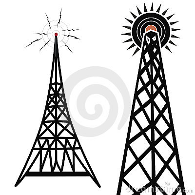 Free Radio Towers Royalty Free Stock Images - 661439