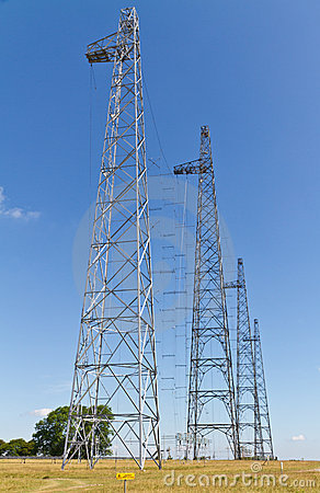 Radio transmitting masts