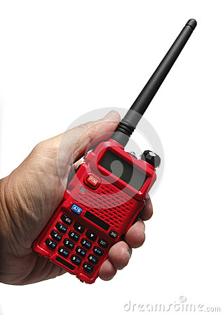 Radio Walkie Talkie on White background