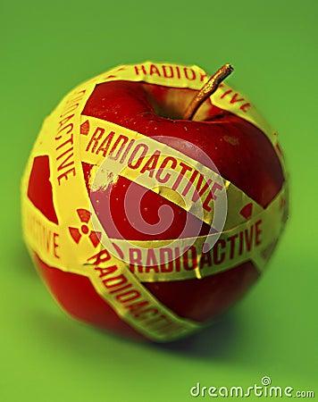 Radioactive Food Apple Stock Photo Image 3463750