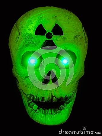 Radioactive Glowing Green Skull