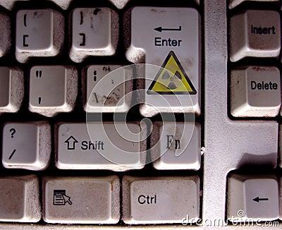Radioactive keyboard