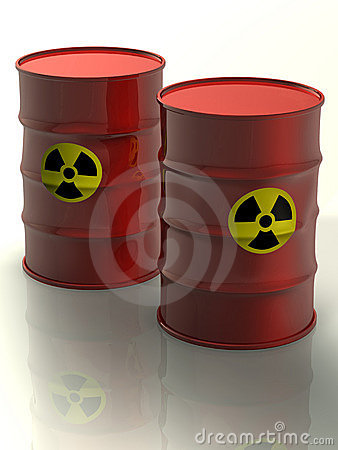 RAdioactive metal barrels