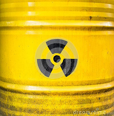 Free Radioactive Sign. Yellow Nuclear Waste Barrel. Royalty Free Stock Photos - 103770068