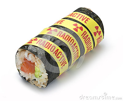 Radioactive Radiation Sushi Food