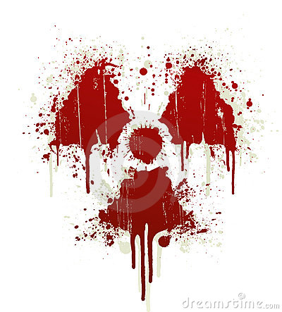 Free Radioactive Symbol Blood Splatter Royalty Free Stock Images - 5325419