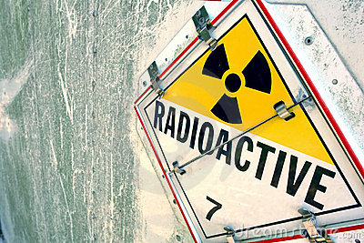 Radioactive Warning Placard Sign