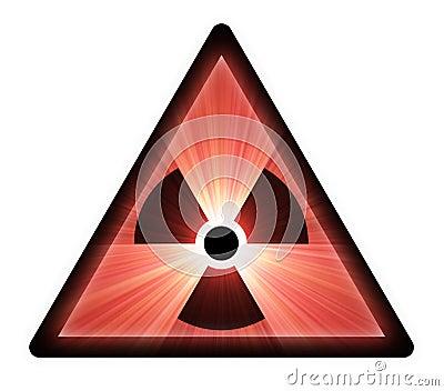 Radioactive warning sign light flare