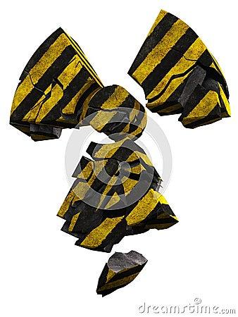 Radioactivity logo stripe painted concrete