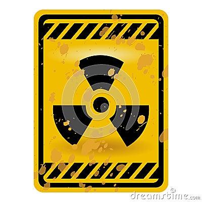 Radioactivity sign
