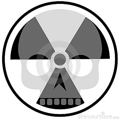 Radioactivity and skull