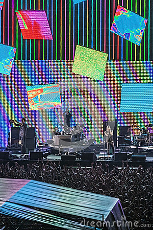 Radiohead concert tour 2012 Editorial Photography