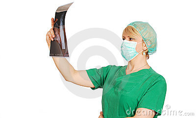 Radiologist female doctor