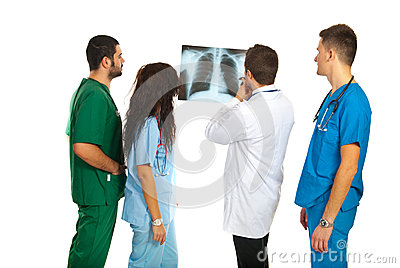 Radiologists with lungs xray